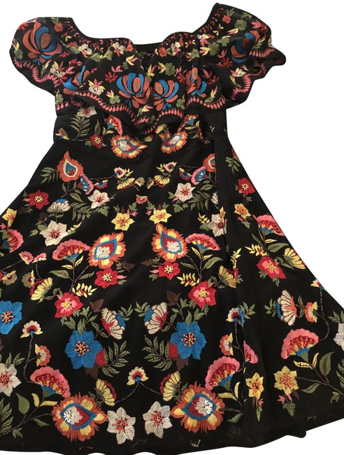 Item - Black Red Blue Yellow Short Night Out Dress Size 4 (S)