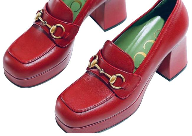 Item - Wine Red Fall Winter 2021 Limited Edition Loafer 1/2 Platforms Size EU 39.5 (Approx. US 9.5) Regular (M, B)