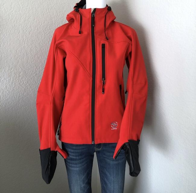 Item - Red Hooded Convertible Glove Cuffs Activewear Outerwear Size 0 (XS)