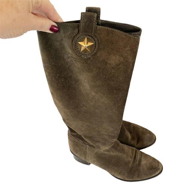 Item - Brown Suede Western Star Boots/Booties Size US 9 Regular (M, B)
