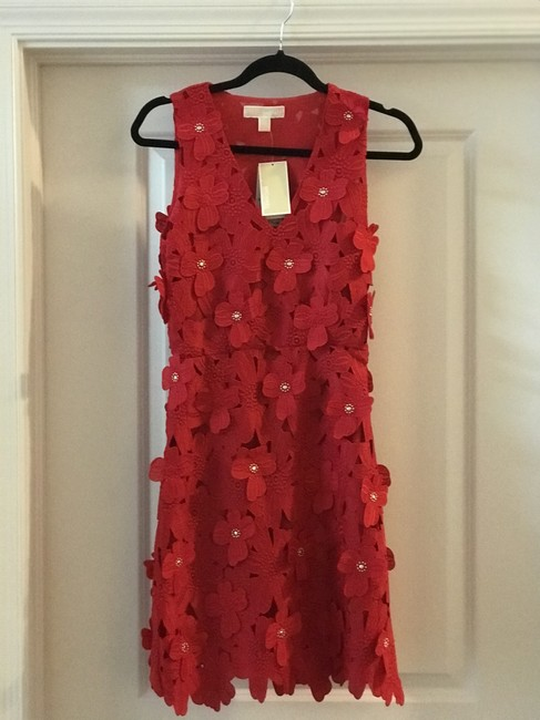 Item - Red Mid-length Night Out Dress Size 00 (XXS)