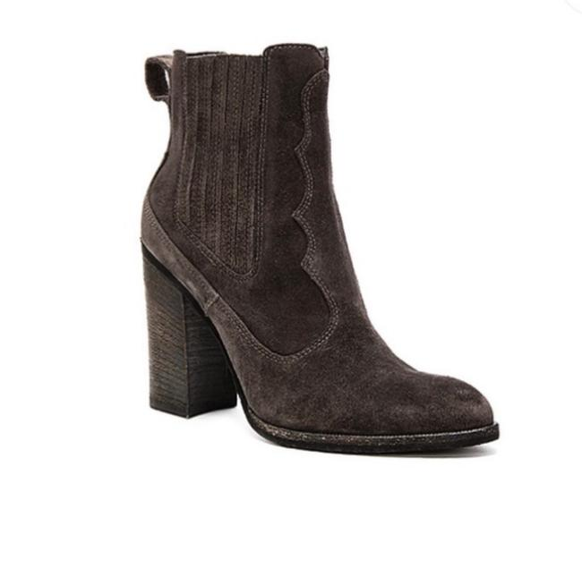Item - Gray Conway Western Suede Boots/Booties Size US 7 Regular (M, B)
