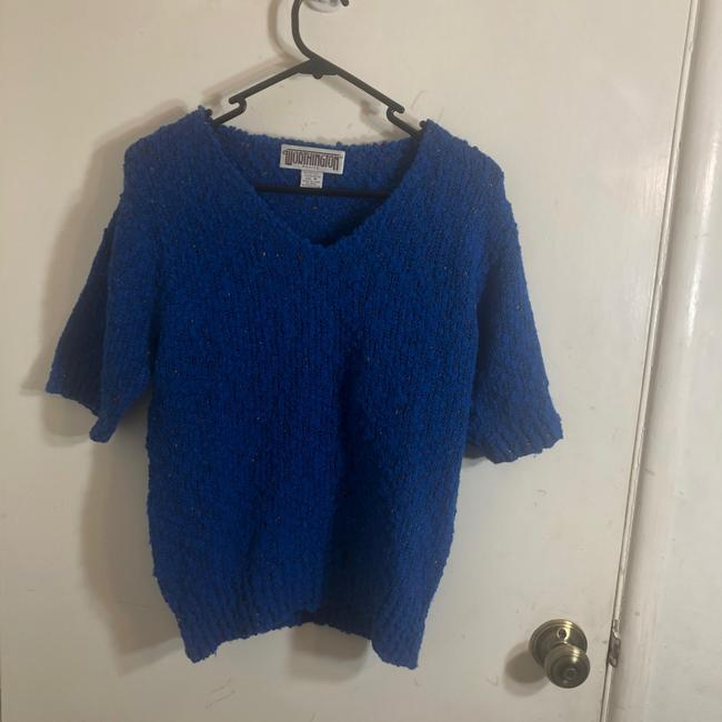 Item - Vintage 70s Marled Knit Blue Sweater