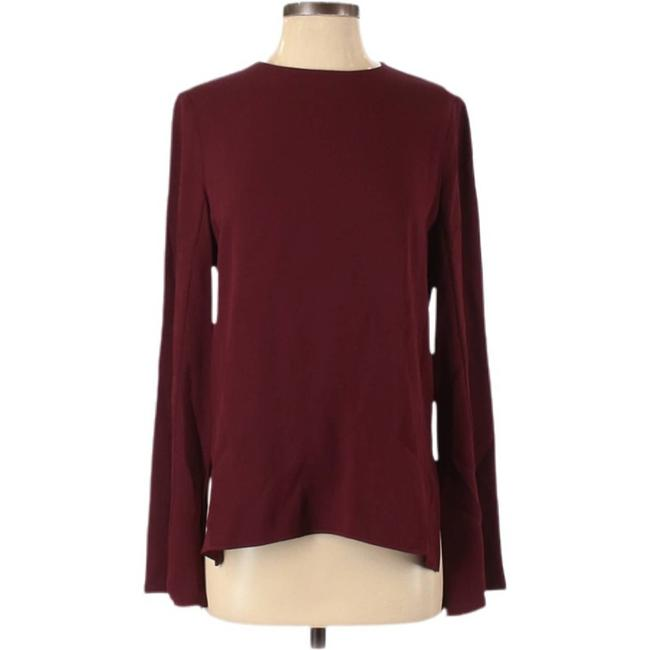 Item - Red Long Sleeve Burgundy Blouse Size 4 (S)
