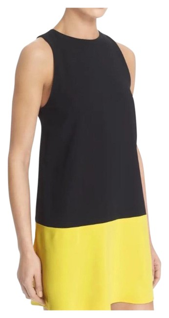 Item - Black and Yellow Mid-length Cocktail Dress Size 8 (M)
