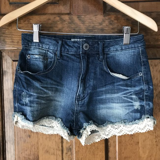 Item - Blue W Distressed W/Lace Shorts Size 4 (S, 27)