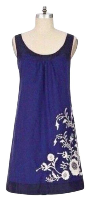 Item - Blue Anthropologie Primrose Embroidered Short Casual Dress Size 0 (XS)