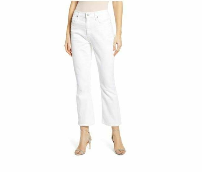 Item - White Light Wash Demy Crop Flare Capri/Cropped Jeans Size 26 (2, XS)