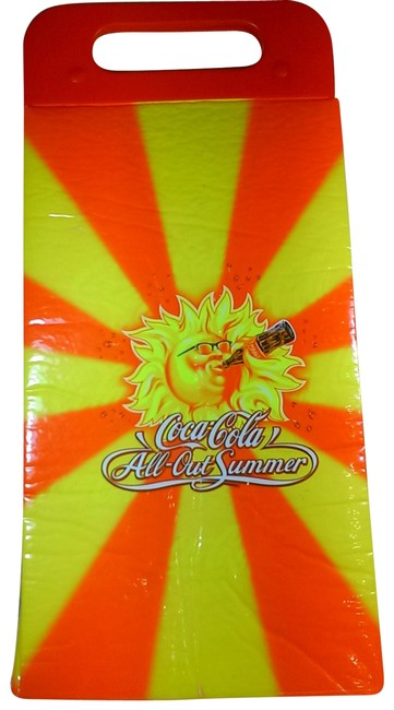"""Item - """"All-out Summer"""" Cooler Oragne W/Yellow Colorway Semi-insulated Bag Tote"""