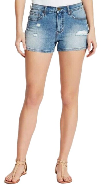Item - Blue High Rise Indie Pop Distressed Jean Shorts Size 6 (S, 28)