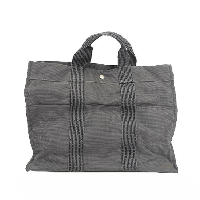 Item - Bag Her Line Mm Women's Gray Canvas Tote