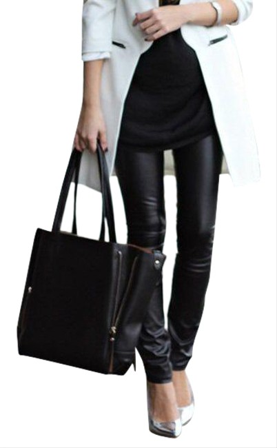 Item - Crackle Black Coated The Looker Skinny Jeans Size 0 (XS, 25)