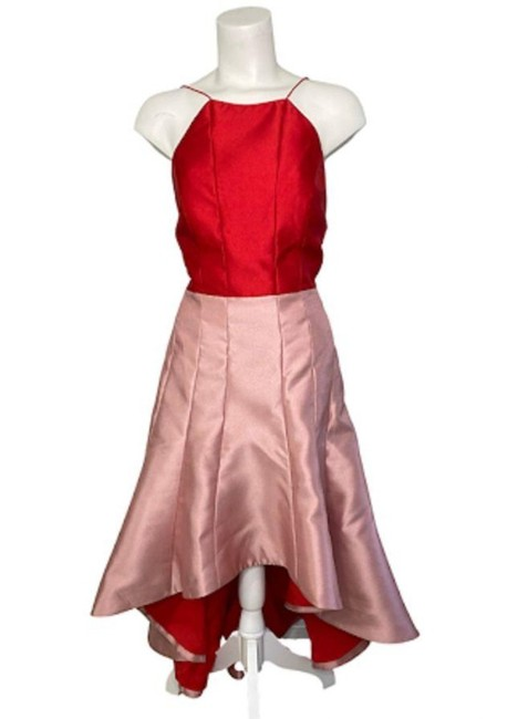 Item - Pink Red Pink/Red Strappy High-low Long Formal Dress Size 8 (M)
