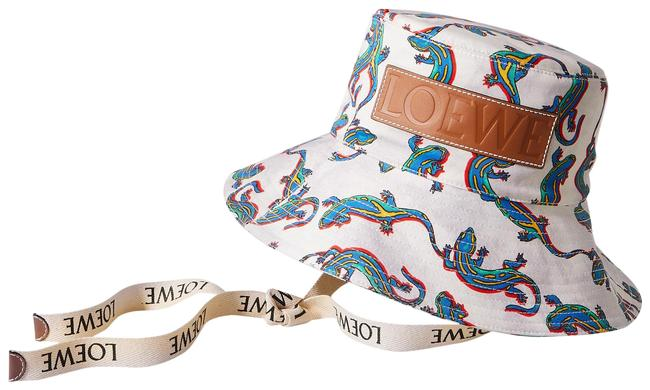Item - Off-white Paula's Ibiza Leather-trimmed Printed Cotton-twill L-size Hat