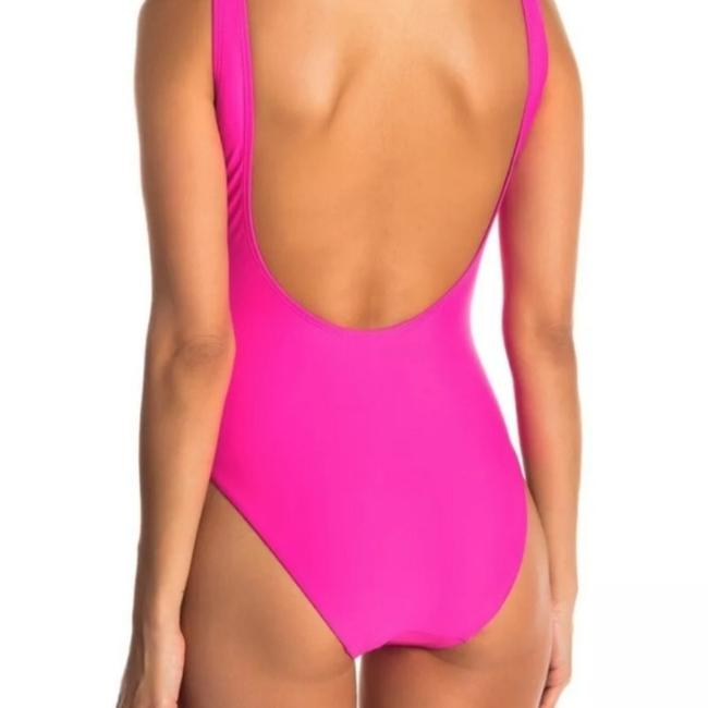Anthropologie Pink Kelly Classic Scoop Neck Open Back One-piece Bathing Suit Size 4 (S) Anthropologie Pink Kelly Classic Scoop Neck Open Back One-piece Bathing Suit Size 4 (S) Image 4