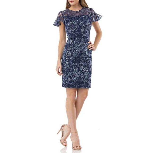 Item - Blue Infusion Mid-length Cocktail Dress Size 2 (XS)