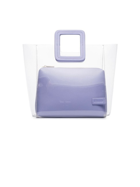 Item - Shirley Purple Leather Pouch and Pvc Tote