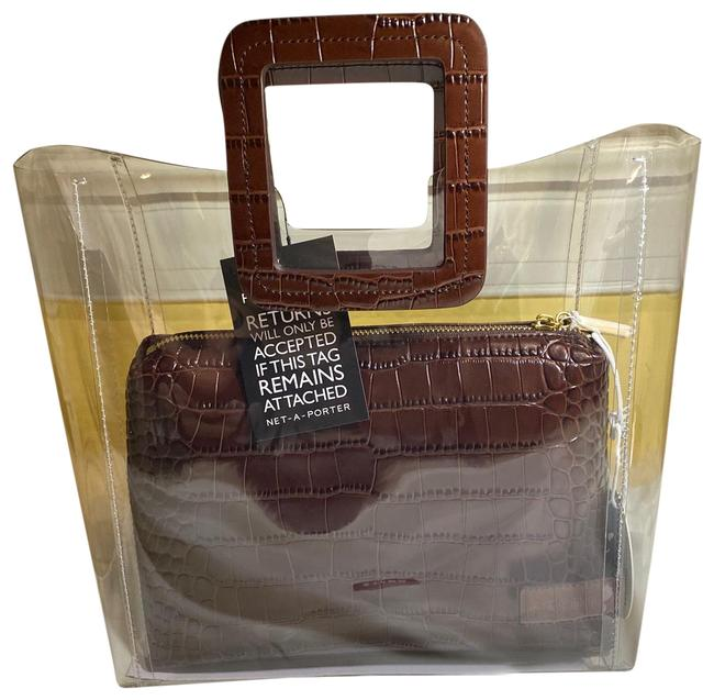Item - Shirley Brown Leather and Pvc Tote