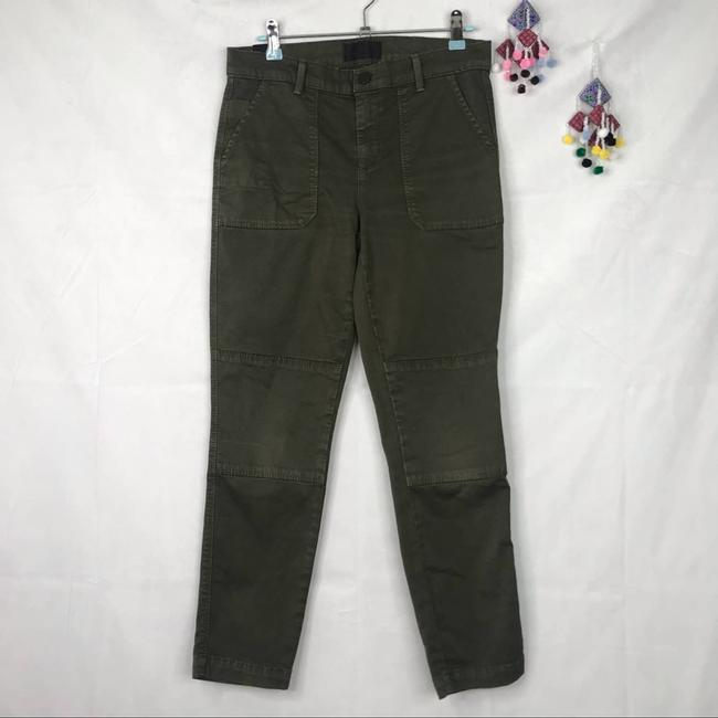 Item - Green Army Military Rolled Skinny Pants Capri/Cropped Jeans Size 26 (2, XS)