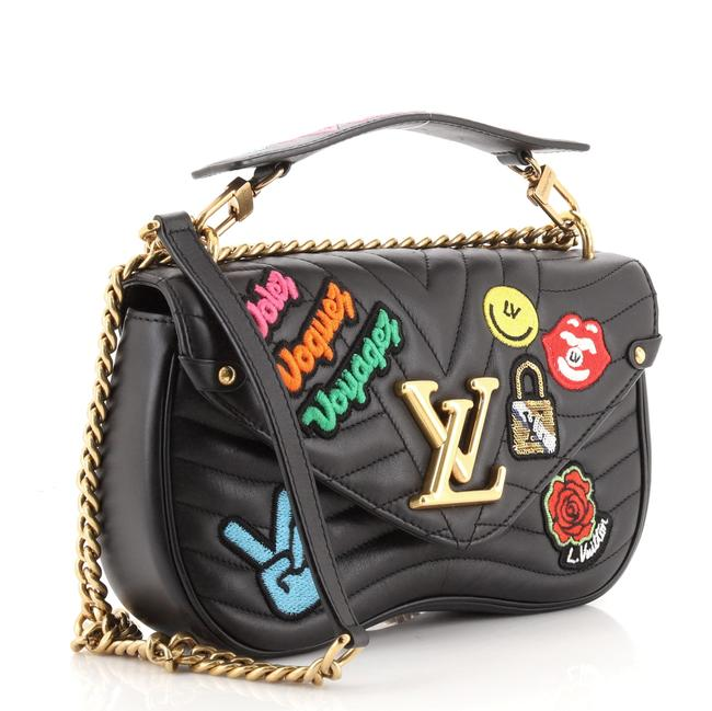 Louis Vuitton New Wave Chain Limited Edition Patches Quilted Mm Black Multicolor Leather Cross Body Bag Louis Vuitton New Wave Chain Limited Edition Patches Quilted Mm Black Multicolor Leather Cross Body Bag Image 2