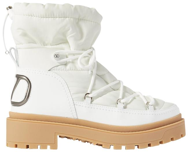 Item - White Garavani Logo-detailed Leather and Quilted Shell Ankle Boots/Booties Size EU 38 (Approx. US 8) Regular (M, B)