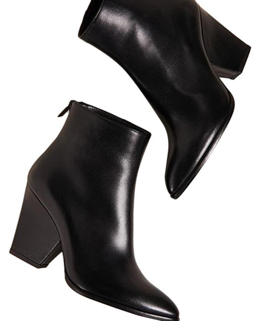 Item - Black Bedford Leather Heeled Boots/Booties Size US 7.5 Regular (M, B)