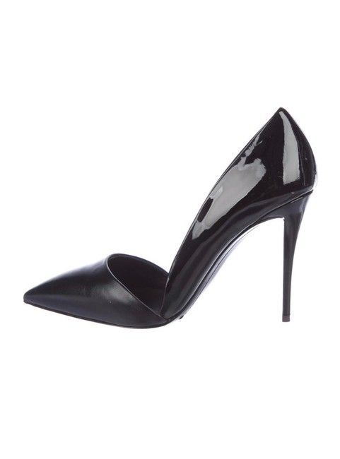 Item - Black Patent & Leather D'orsay Pointed Heels Pumps Size EU 39 (Approx. US 9) Regular (M, B)