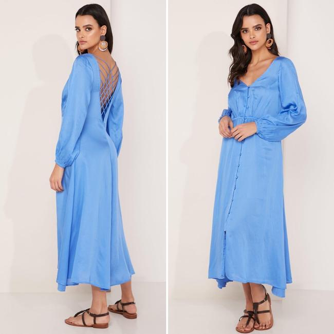 Item - Blue Later Days Midi In Mid-length Casual Maxi Dress Size 2 (XS)