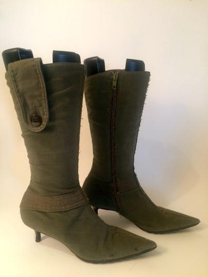 BOCCAGGINI ARMY GREEN Boots