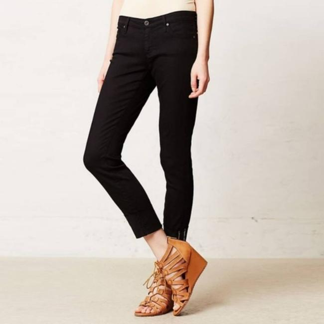 Item - Black The Stevie Cuff Slim Straight Crop Capri/Cropped Jeans Size 29 (6, M)