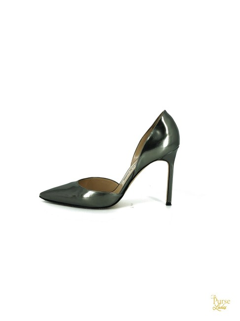 Item - Silver Leather D'orsay #33064 Pumps Size EU 38.5 (Approx. US 8.5) Regular (M, B)