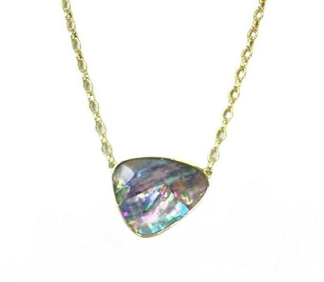 Item - Lilac Mckenna Gold Pendant Abalone Necklace