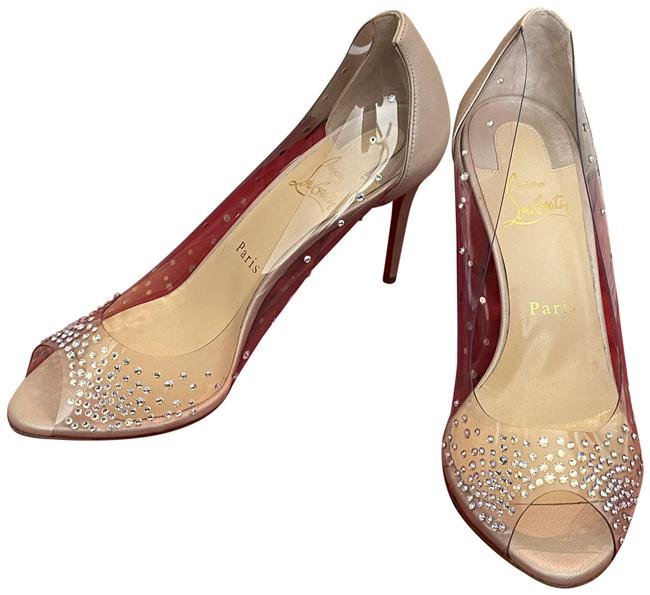 Item - Nude Clear Sucre Glace Pvc with Swarovski Crystal Formal Shoes Size EU 38 (Approx. US 8) Regular (M, B)