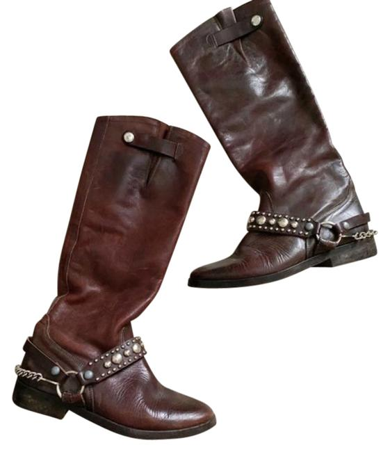 Item - Brown Chain Riding Boots/Booties Size US 6 Regular (M, B)