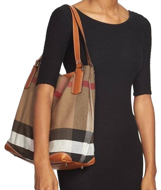 Item - New Medium Maidstone Check Brown Canvas / Leather Hobo Bag