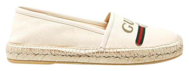 Item - White Leather-trimmed Logo-print Canvas Espadrilles Sneakers Size EU 39.5 (Approx. US 9.5) Regular (M, B)