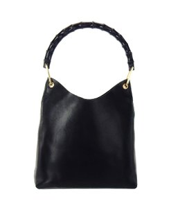 Gucci Bamboo Leather Tote Shoulder Bag