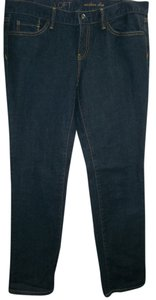 Ann Taylor LOFT Modern Slim 5 Pocket Never Worn Cotton Spandex Skinny Jeans-Dark Rinse