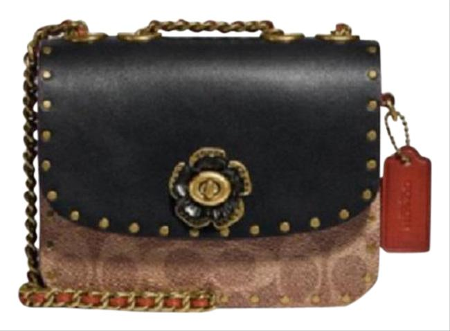 Item - 16 In Signature Canvas with Rivets B4/Tan Rust Leather Shoulder Bag
