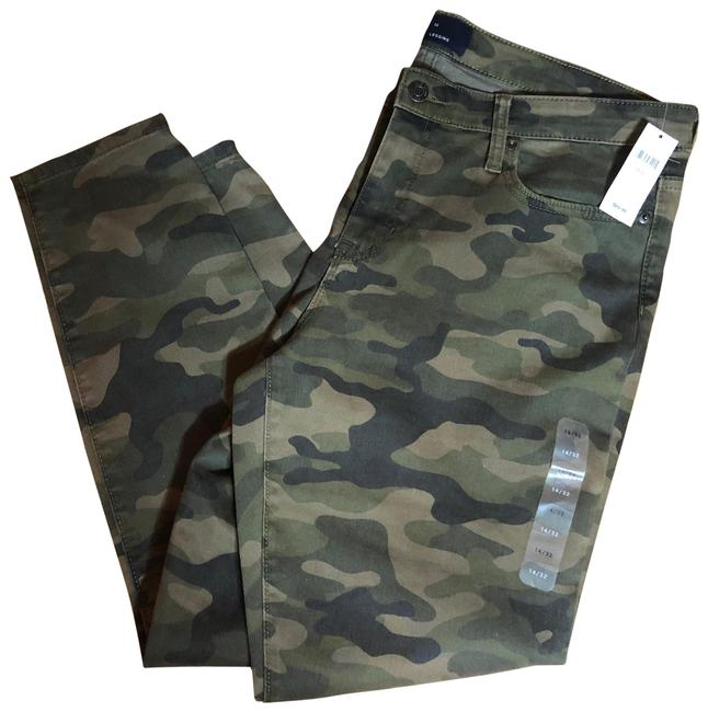 """Item - Green/Tan/Olive Medium Wash Nwt-sz 14/32-gap Camouflage Mid-rise/Stretch Skinny Ankle Legging Jeans-26"""" Inseam Capri/Cropped Jeans Size 14 (L, 34)"""