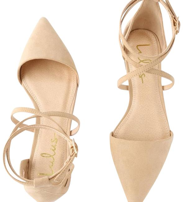 Item - Tan Rayna Natural Suede Pointed Flats Size US 7.5 Regular (M, B)