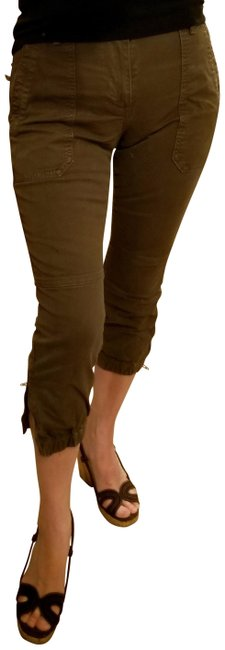 Item - Blk & Dk Brown Distressed 2 Pack- Stretch Crop Cargo Jeans Size 26 (2, XS)