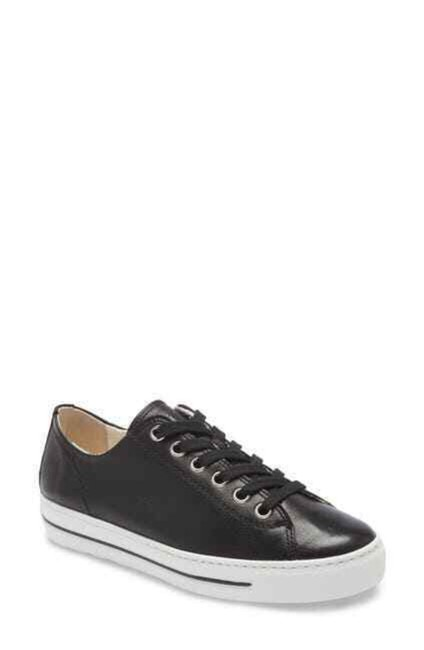 Item - Black Ally Leather Lace Up Sneakers Pumps Size US 8 Regular (M, B)