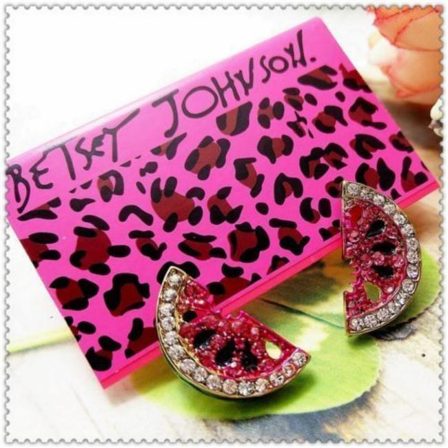 Item - Red Watermelon Small Studs Earrings