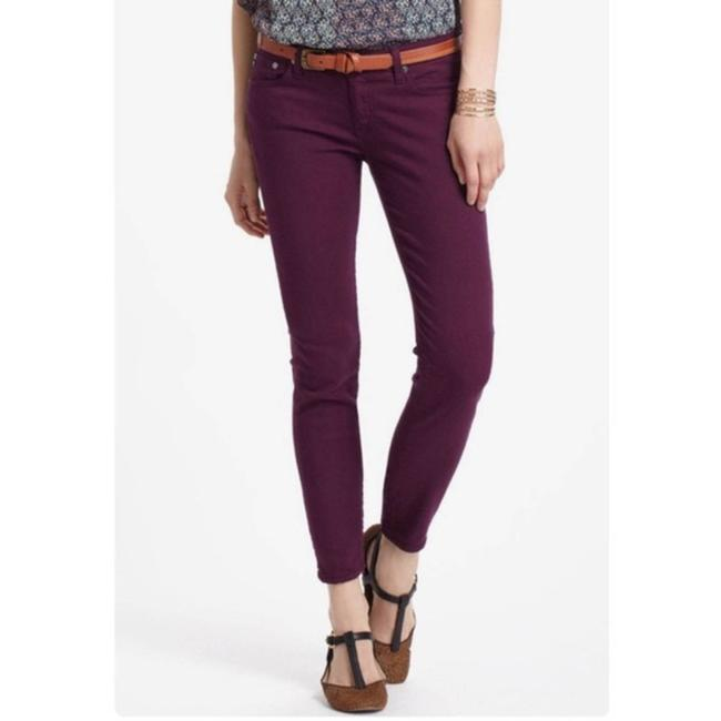 Item - Purple Stevie Ankle Slim Straight Capri/Cropped Jeans Size 28 (4, S)