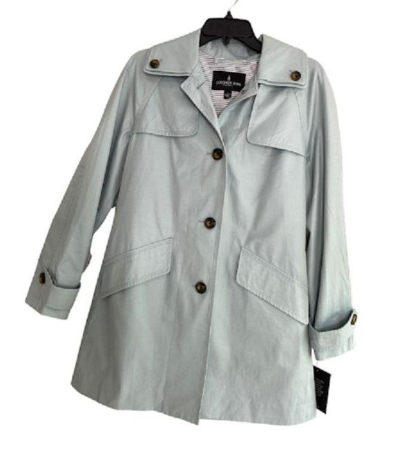 Item - Green Raincoat Removable Hood Button-front Waterproof Jacket Size 4 (S)