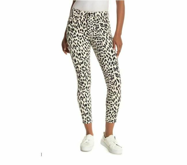 Item - White Black Coated The Charlie Leopard Print High Rise Ankle Skinny Jeans Size 28 (4, S)