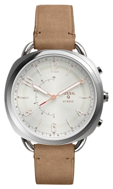 Item - Pink Ftw1200 Hybrid Smartwatch Accomplice Sand Leather Watch