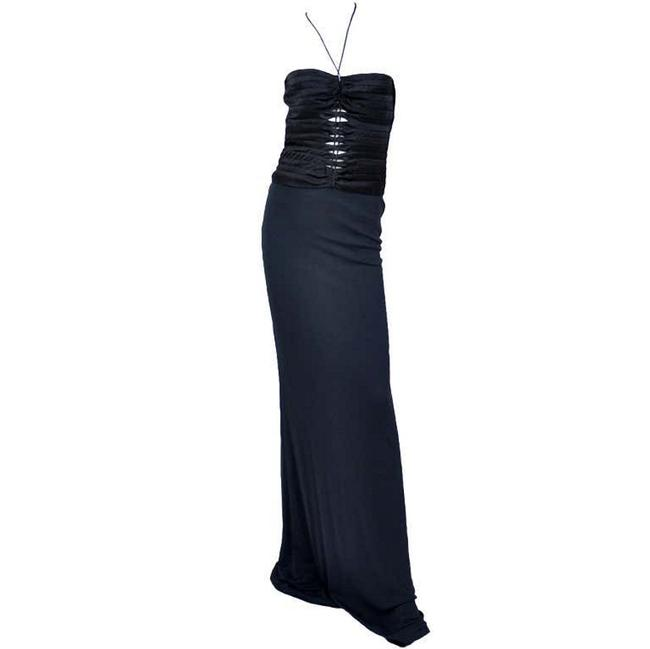 Item - Black Tom Ford For Vintage Gown Autumn / Winter 2002 Long Night Out Dress Size 6 (S)