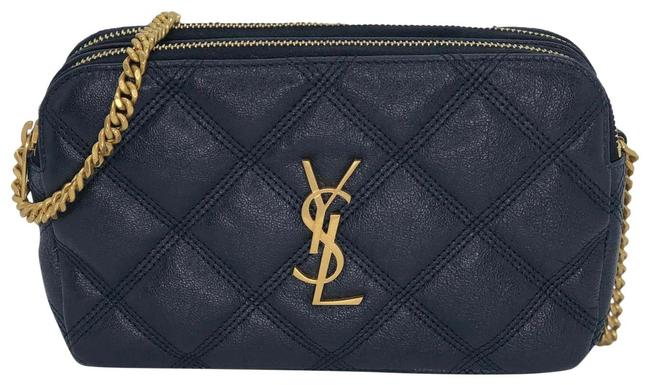 Item - Mini Becky Quilted Navy Lambskin Leather Shoulder Bag